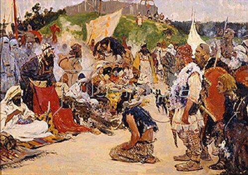 Sergej Iwanow: Sklavenmarkt im östlichen Slawenland. 1909.