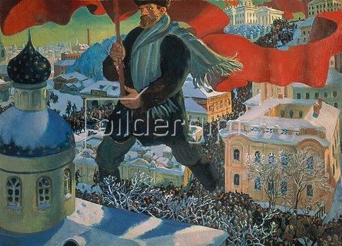 Boris Michailowitsch Kustodiev: Der Bolschewist. 1919/1920.
