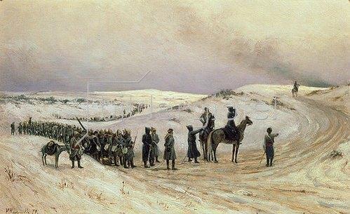Mikhail Malyschew: In Bulgarien. Szene aus dem russisch-türkischen Krieg 1877-1878. 1879
