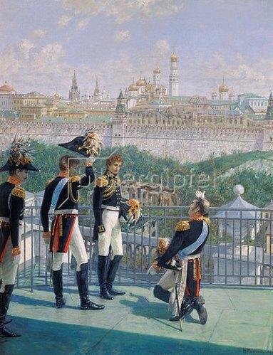 Nikolaj Matwejev: Der Dank König Friedrichs II. von Preussen an Moskau. 1896.