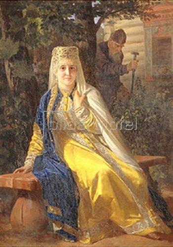 Nikolaj Wassiljewitsch Nevrev: Wassilisa Melentiewna und Zar Iwan der Schreckliche. 1880-er Jahre