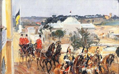 Simon Nikiforov: König Viktor-Emanuel III. von Italien auf der Weltausstellung. 1911.