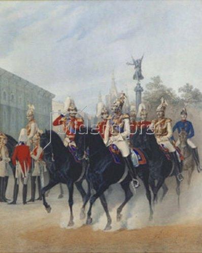 Karl Karlowitsch Piratsky: Zar Nikolaus I. und Grossfürst Alexander in St. Petersburg. 1843.