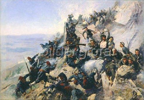Andrej Nikolajewitsch Popov: Die Verteidigung des Adlerhorstes auf dem Berg Shipka 1877. 1893.