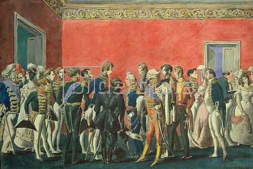 Alexej Saltykov: Ein Empfang in der Botschaft in Teheran. 1830-er Jahre