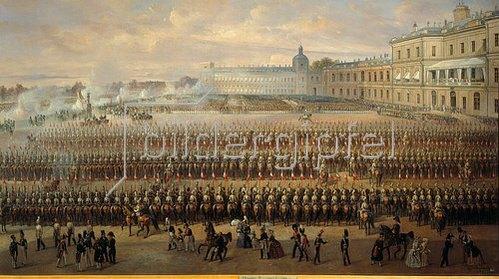 Gustav Schwarz: Enthüllung des Denkmals Pauls I. in Gatchina. 1850.