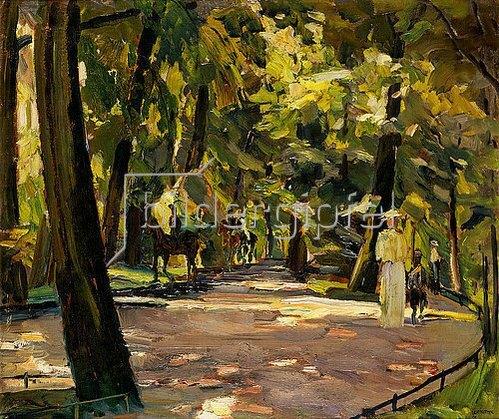 Albert Weisgerber: Englischer Garten in München. 1910