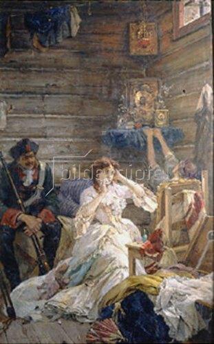 Pavel Alexandrow Swedomski: Lady Maria Hamilton vor der Hinrichtung. 1904.