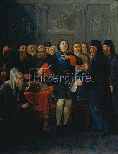 Iwan Philippowitsch Tupylev: Die Gründung der Hl. Synode durch Zar Peter I. 1801