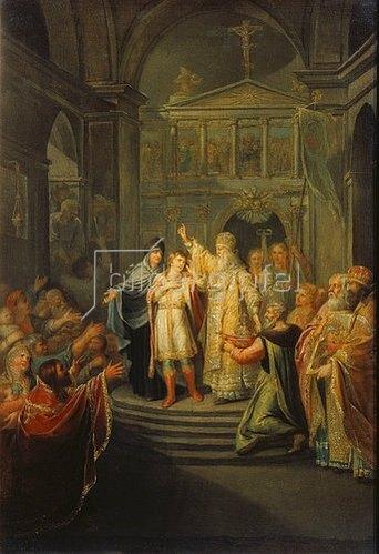Grigorij Ugrjumov: Die Wahl des Zaren Michael Romanow am 14. März 1613. 1798/1800.