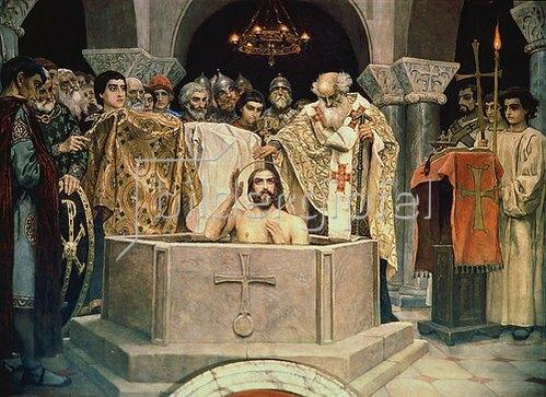 Viktor Wasnezow: Die Taufe des Grossfürsten Wladimir. 1885/1896