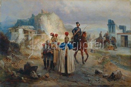 Bogdan Willewalde: Die französische Gefangenen, 1814. 1885
