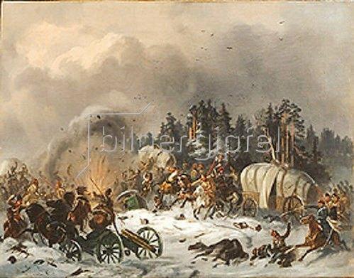 Bogdan Willewalde: Szene aus dem russisch-französischen Krieg. 1812.