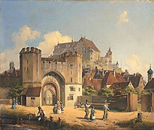 Anton Höchl: Das Ländtor in Landshut. 1842