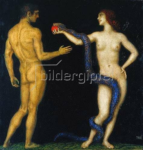 Franz von Stuck: Adam und Eva.
