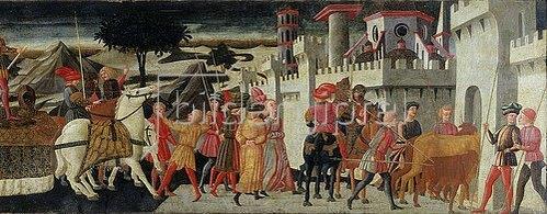 Giovanni di Ser Giovanni (Il Scheggia): Triumpfzug (rechte Seite).