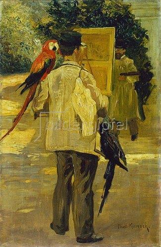 Paul Klimsch: Der Papageienwärter.
