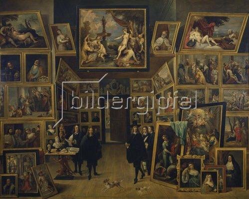 David Teniers: Der Erzherzog Leopold Wilhelm in seiner Gemäldegalerie zu Brüssel. Um 1647