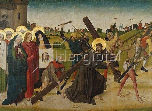 Meister d.Lyversbg.Passion: Kreuztragung Christi. Um 1470 (Staatsgalerie Bamberg - Residenz)