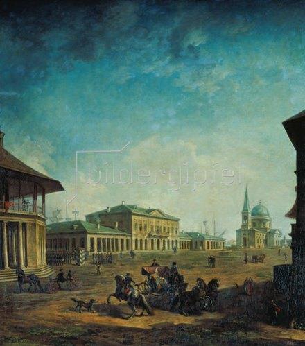 Fjodor Jakowlewitsch Aleksejew: Ansicht der Stadt Nikolajew. 1798/1800