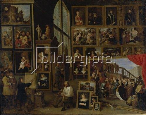 David Teniers: Ansicht der Galerie des Erherzogs Leopold Wilhelm in Brüssel (I.).