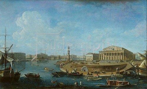 Fjodor Jakowlewitsch Aleksejew: Blick von der St.Peter-und-Paul-Festung auf Börse und Admiralität, St.Petersburg