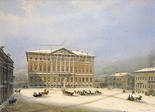 Jules Arnout: Das Haus des Generalgouverneurs in Moskau im Winter. 1840-er Jahre.