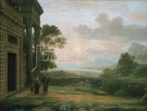 Claude Lorrain (Gellée): Die Verstoßung der Hagar. 1668.