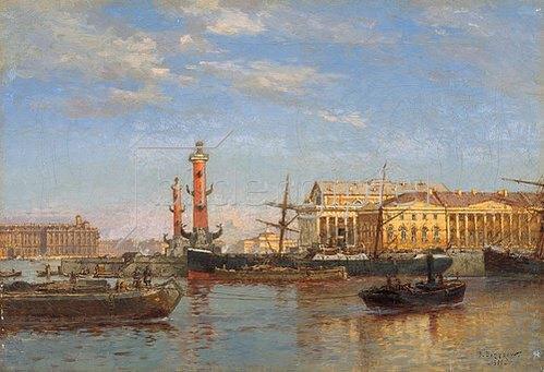 Alexander Beggroff: Blick über die Newa auf St. Petersburg. 1899.