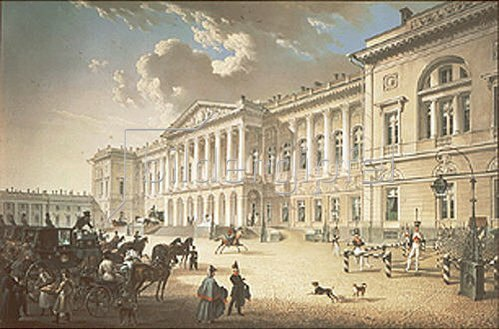 Karl Petrowitsch Beggrow: Der Michaels-Palast in St. Petersburg. 1820-er Jahre