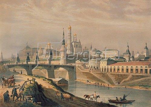 Louis P. Alphonse Bichebois: Ansicht des Moskauer Kreml. 1830.