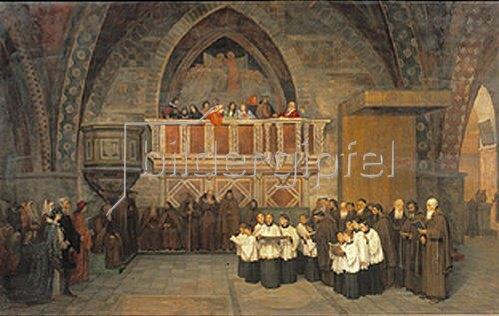 Mikhail Botkin: Vesper-Szene in der Franziskus-Kirche in Assisi. 1871.