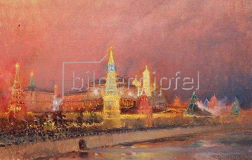 Nikolaj Grizenko: Der beleuchtete Kreml in Moskau. 1896