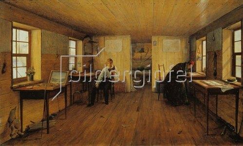 Anton Iwanow: Das schwimmende Atelier von Tschernetzow im Jahre 1838.