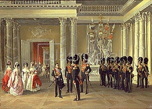 Adolf Ladurner: Der Wappensaal im Winterpalast in St. Petersburg. 1838