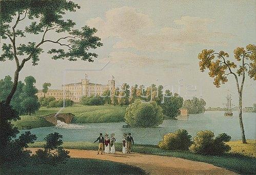 Andrej Efimowitsch Martynov: Blick auf den Gatschina-Palast bei St. Petersburg. 1821.