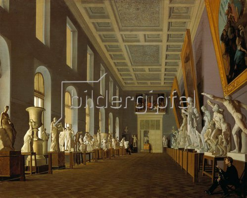 Jegor Jegorowitsch Meier: Skulpturensaal im Palast von Pavlovsk. 1843