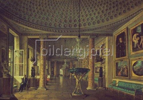 Nikolaj Stepanowitsch Nikitin: Die Gemäldegalerie im Stragonov-Palast in St. Petersburg. 1832