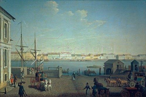 Benjamin Paterssen: St. Petersburg, das Englische Ufer. 1790-er Jahre.