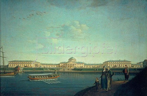 Benjamin Paterssen: St. Petersburg, der Taurische Palast von der Newa gesehen. 1797.