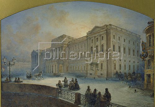 Wassily Sadovnikov: Der Marjinskij-Palast im Winter. 1863.