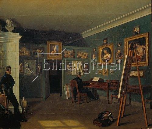 Kapiton Selentsov: Das Atelier des Künstlers. 1830.