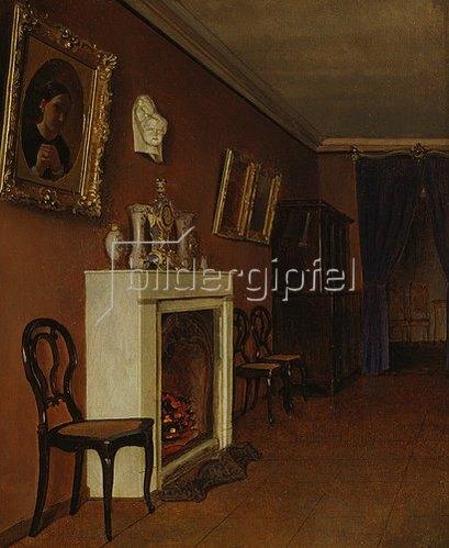 Kapiton Selentsov: Innenraum mit Kamin. 1840.