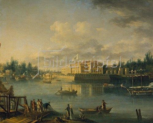 Semjon Fedorow Stschedrin: Der Kamenowstrowski-Palast vom Stroganowski-Ufer gesehen. 1803.