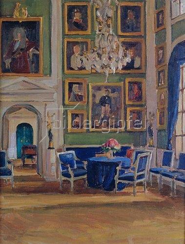 Alexander Sredin: Empfangszimmer in einem russischen Haus.