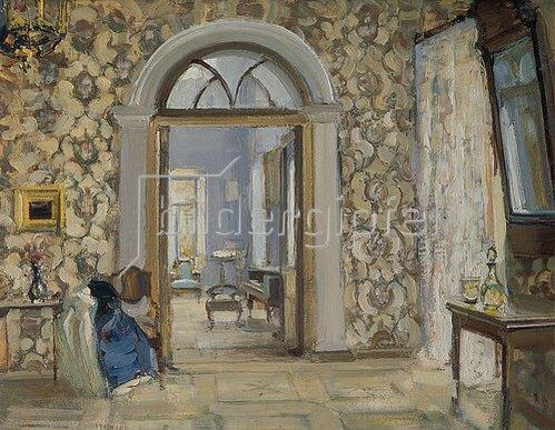Alexander Sredin: Ankleidezimmer in Obninskij´s Landhaus Belkino.