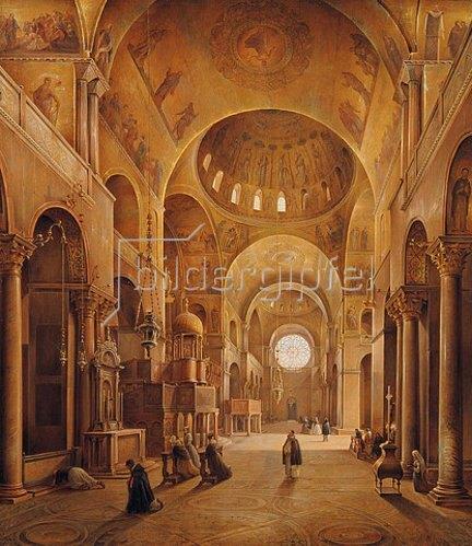 Grigorij G Tschernezoff: Inneres von San Marco in Venedig. 1846.