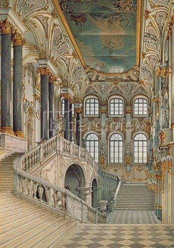 Konstantin Ukhtomsky: Treppenhaus im Winterpalast von St. Petersburg.