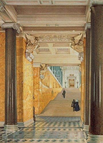 Konstantin Ukhtomsky: Die Eingangshalle zum Winterpalast in St.Petersburg.