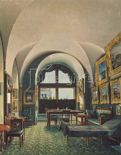 Konstantin Ukhtomsky: Das kleine Studio von Zar Nikolaus I. im Winterpalast von St.Petersburg.